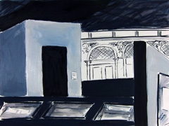 Jodendom Exhibition, Schatskamer, Nieuwe Kerk, 2012. Ink & water-based oil on paper (24x32cm)