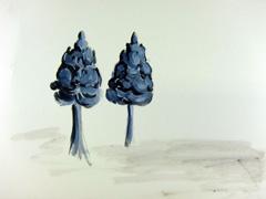 Jodendom Exhibition, Torah Finials, Greece, Thessaloniki 1842-42, 2012. Ink & water-based oil on paper (24x32cm)