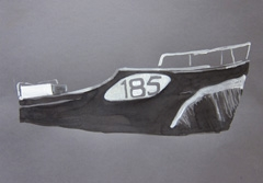 Boat185 Entrepotdok, 2010. Ink on paper (24 x 32 cm)