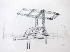 Brug (Bridge) Schippersgracht, 2010. Ink on paper (24 x 32 cm)
