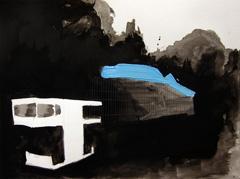 De Hortus And Nieuwe Herengracht, 2010. Ink on paper (24 x 32 cm)