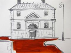 Entrepotdok Gebouw, 2010. Ink on paper (24 x 32 cm)