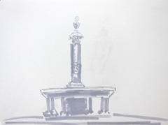 Fountain V2 Wertheim Park, 2010. Ink on paper (24 x 32 cm)