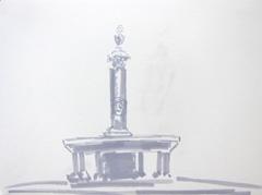 Fountain V2 Wertheim Park, 2010. Ink on paper (24 x 32 cm)