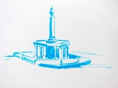 Fountain Wertheim Park, 2010. Ink on paper (24 x 32 cm)