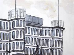 St Jacob Bejaardenhuis Old Age Home, 2010. Ink on paper (24 x 32 cm)