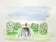 Sandford Park, Cheltenham, 2010. Ink on paper (24 x 32cm)