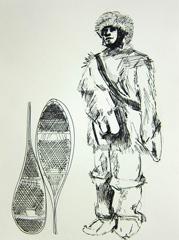 Doctor Edward Wilson (Antarctic Explorer), Cheltenham Art Gallery and Museum, Cheltenham, 2010. Pen on paper (32 x 24 cm)