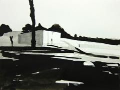 College Road, Sandford Park, Cheltenham V2, 2010. Ink on paper (24 x 32cm)