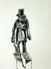 Tradesman's sign in zinc in the firm of a Master Sweep, around 1830, Cheltenham Art Gallery & Museum, 2010. Ink on paper (32 x 24 cm)