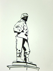 Doctor Edward Wilson (Antarctic Explorer), Long Garden, Municipal Offices, Cheltenham, 2010. Ink on paper (32 x 24 cm)