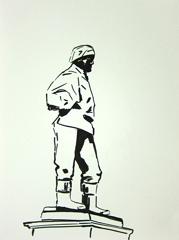 Doctor Edward Wilson (Antarctic Explorer), Long Garden, Municipal Offices, Cheltenham, 2010. Ink on paper (32 x 24 cm)