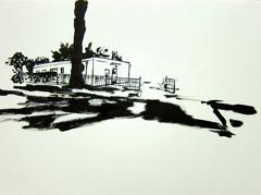 College Road, Sandford Park, Cheltenham, 2010. Ink on paper (24 x 32cm)
