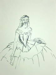 The Ugly Duckling by Frank Cadogan Cowper, Cheltenham Art Gallery & Museum, 2010. Ink on paper (32 x 24cm)