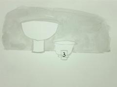 Pottery, Cheltenham Art Gallery & Museum, 2010. Ink on paper (24 x 32cm)