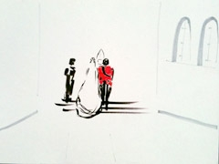 Royal Wedding v2, 2011. Ink and marker on paper (24 x 32cm)