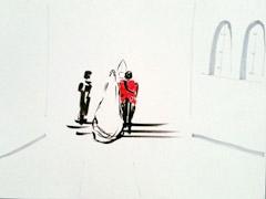 Royal Wedding v2, 2011. Ink and marker on paper (24 x 32cm)