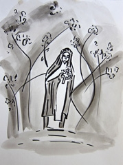 Bible Museum, Open Garden Days 2009, 2010. Ink on paper (32 x 24cm)