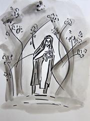 Bible Museum, Open Garden Days 2009, 2010. Ink on paper (32 x 24cm)