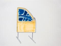Car Door, Open Ateliers Plantage Weesperbuurt, 2010. Ink and highlighter on paper (24 x 32cm)