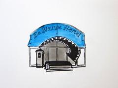 De Blauwe Hemel, Tent, Parade 2009, 2010. Ink and highlighter on paper (32 x 24cm)