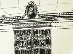 Gerardus Vrolik Cabinet, Vrolik Museum, 2010. Ink on paper (32 x 24cm)