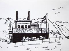 Kustzeil Vereniging Scheveningen, 2010. Ink on paper (24 x 32cm)