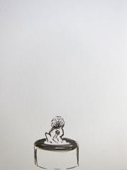 Lion, Dam Square, 2010. Ink on paper (32 x 24cm)