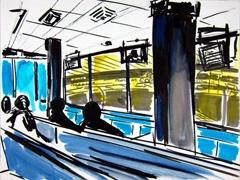 Main Enclosure Coral Romford Greyhound Stadium, 2011. Marker, oil pastel on paper (24 x 32cm)