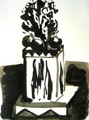 Grand Vista, Battersea Park V4, 2008. Water soluble oil on paper (32 x 24cm)