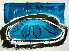 Russel Page Garden / Grand Vista V2, Battersea Park, 2008. Ink on paper (24 x 32cm)