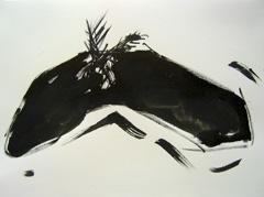 Palm Garden, Battersea Park V5, 2008. Ink on paper (24 x 32cm)