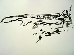 Strand aan 't IJ, 2008. Ink on paper (24 x 32cm)