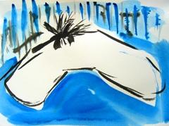 Palm Garden, Battersea Park V6, 2008. Ink on paper (24 x 32cm)