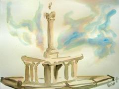 Fountain, Wertheim Park V3, 2008. Ink on paper (24 x 32cm)