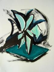 Palm Garden, Battersea Park V7, 2008. Ink on paper (24 x 32cm)