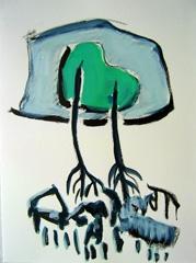 Palm Garden, Battersea Park V11, 2008. Ink on paper (24 x 32cm)