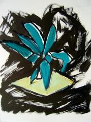 Palm Garden, Battersea Park V12, 2008. Ink on paper (24 x 32cm)