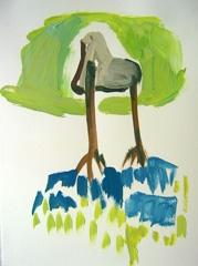 Palm Garden, Battersea Park V13, 2008. Ink on paper (24 x 32cm)