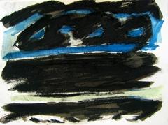 Grand Vista, Battersea Park, 2008. Ink on paper (24 x 32cm)