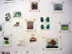 Installation view (detail), Take Off, Galerie Dokhuis, Amsterdam, 2008.