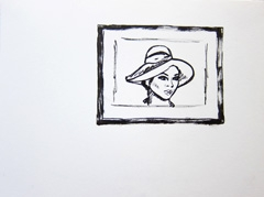April Ashely Born George Jamieson, Identity: Eight rooms, nine lives, Wellcome Collection, 2010. Marker on paper (24 x 32cm)