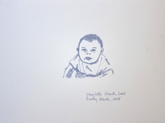 Emily Hinch TwinsI, Identity: Eight rooms, nine lives, Wellcome Collection, 2010. Marker on paper (24 x 32cm)