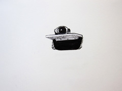 Michael York's Mirror V2, Identity: Eight rooms, nine lives, Wellcome Collection, 2010. Marker on paper (24 x 32cm)