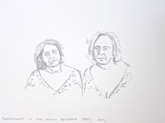 Participants In The Twins Research Study 2009, Identity: Eight rooms, nine lives, Wellcome Collection, 2010. Marker on paper (24 x 32cm)