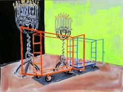 Build Area, Royal Opera House v2, 2011. Ink, crayon, marker, highlighter on paper (24 x 32cm)