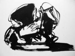 Cast Courts, V&A v2, 2009. Ink on paper (24 x 32cm)