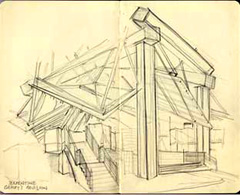 sketch of Serpentine Pavilion 2008