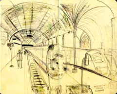 sketch of Paddington Station