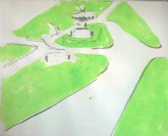 sketch of Avenue Gardens
